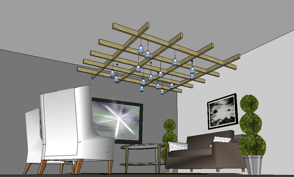 Pendant lighting design using Google SketchUp