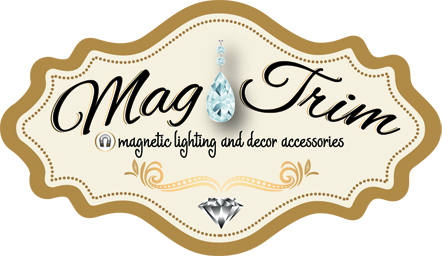 Magnetic Crystal Accessories From Mag Trim Can Transform Your Lighting - Chandelier crystals magnetic drops