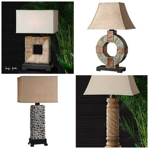 Outdoor Rated Table Lamps from Uttermost.