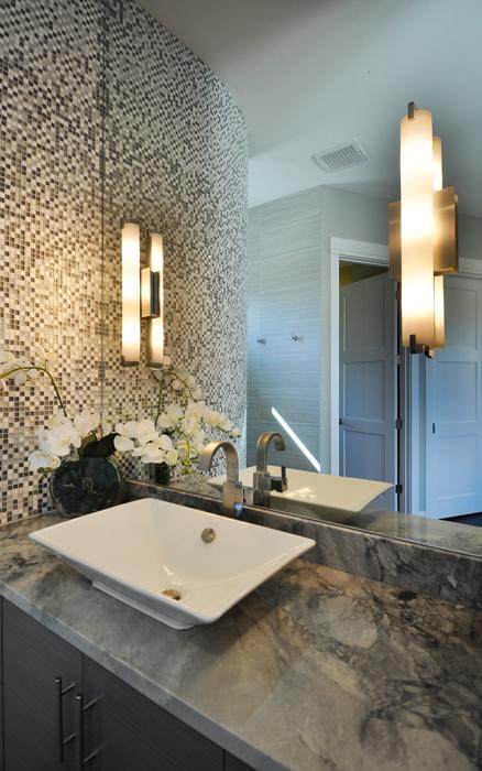 Lighting a bathroom with wall sconces legend lighting for Bathroom interior design austin tx