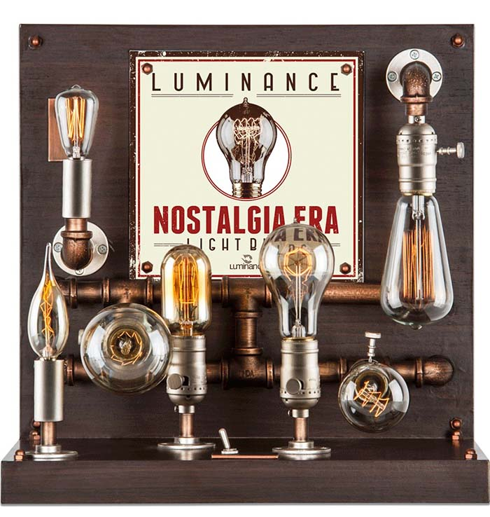 Luminance Nostalgia Era Bulbs on display at Legend Lighting